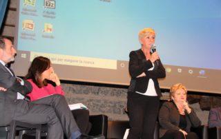 Ester Bottazzi, presidente di Verso il Sereno interviene al convegno dedicato agli istituti superiori a Parma